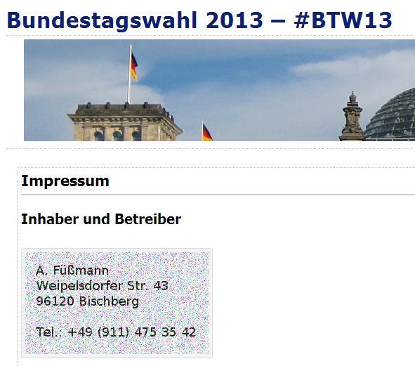 Bundestagswahl 2013 private Seite