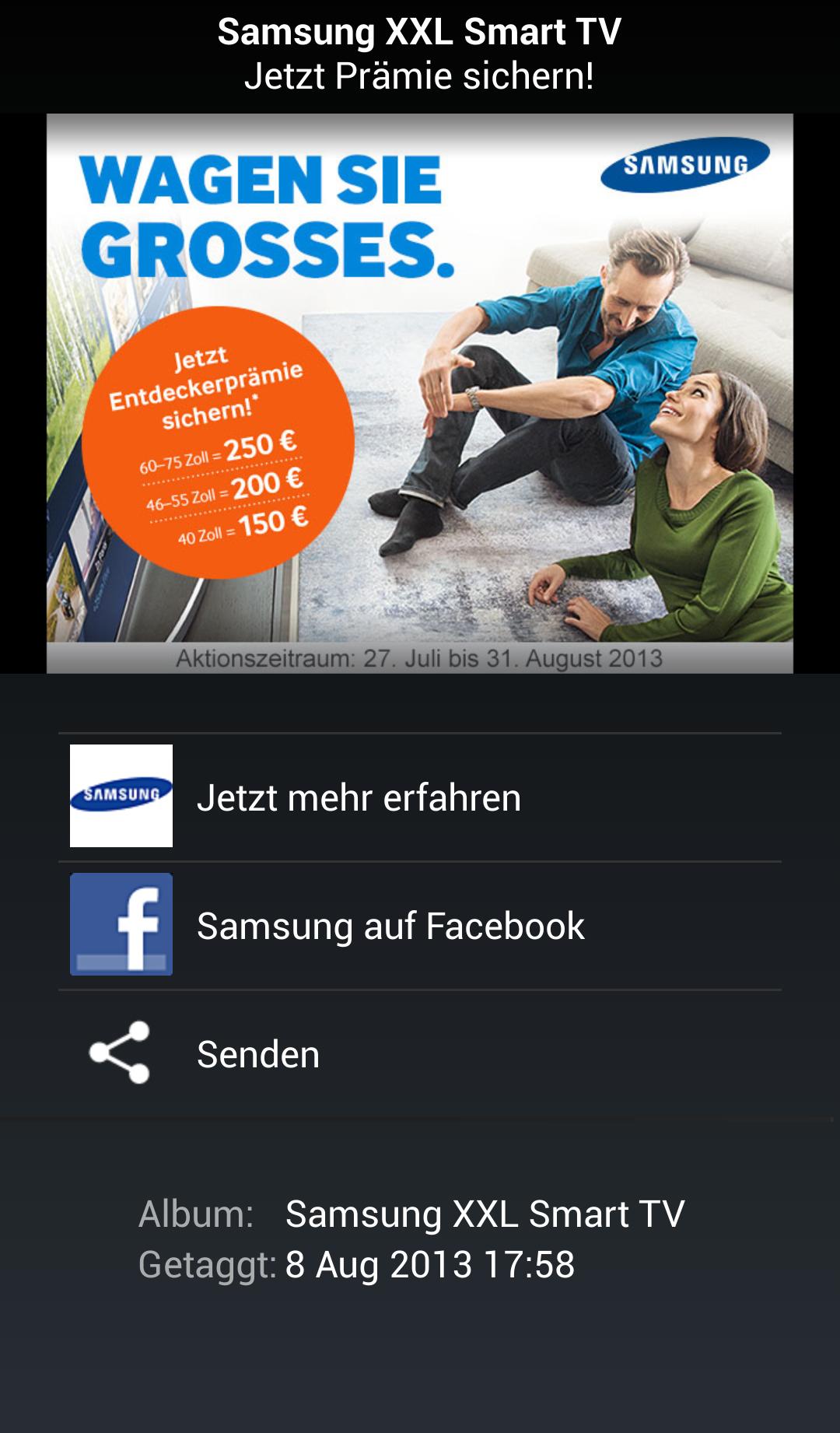 Samsung Shazam Tagging