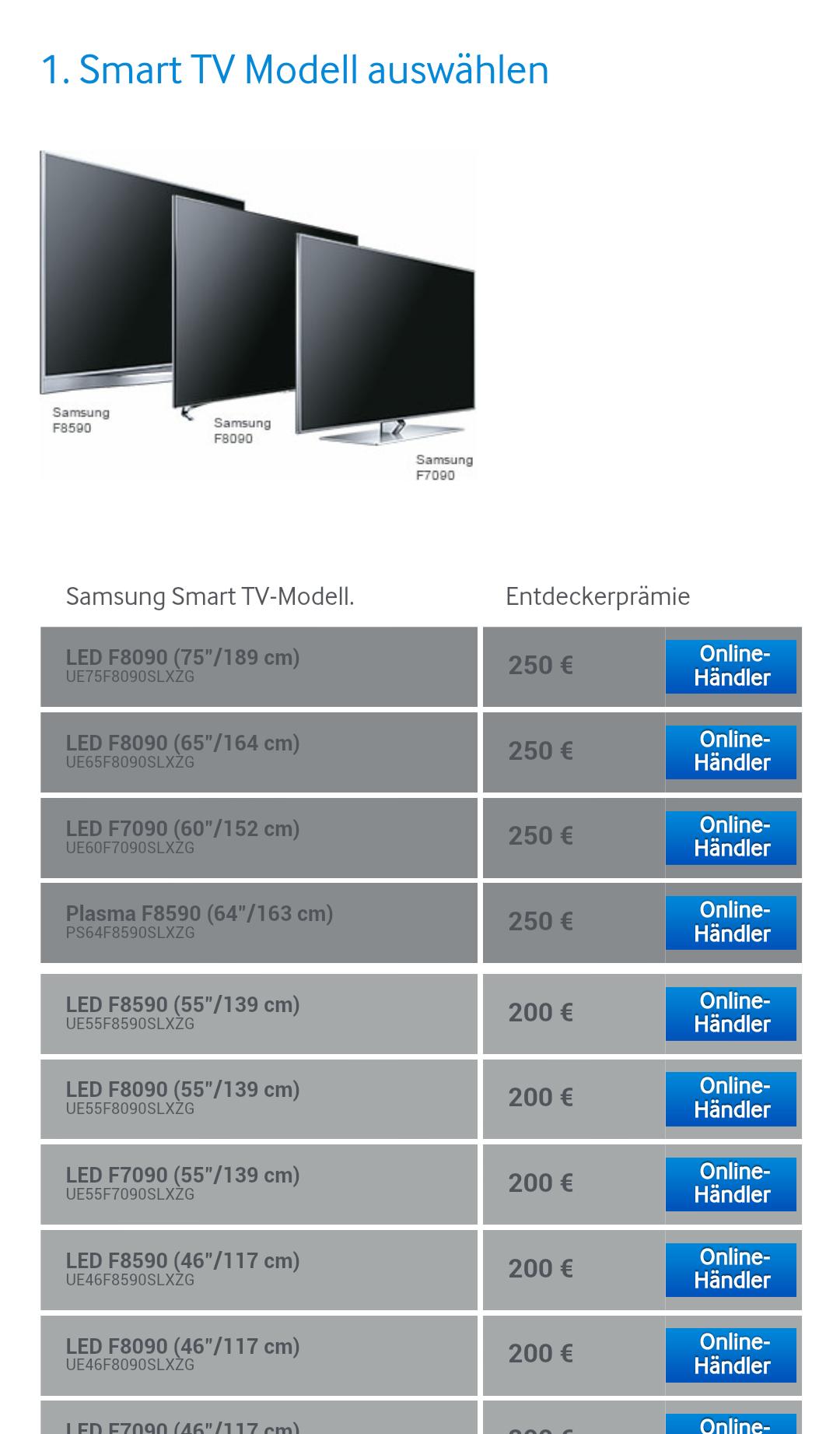 Schritt 1 - Samsung Smart TV auswaehlen
