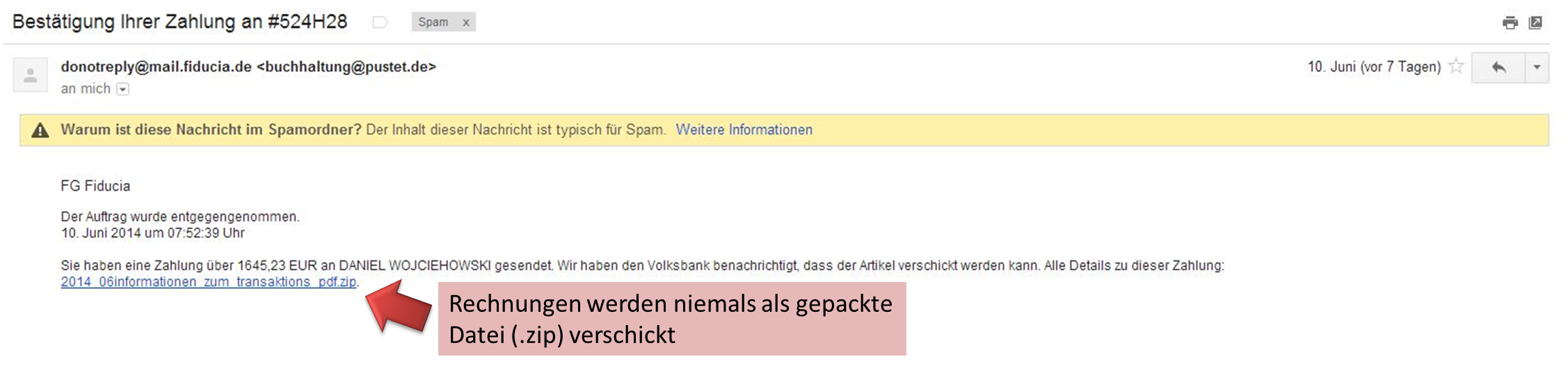 Rechnung2-Phishing-Mail