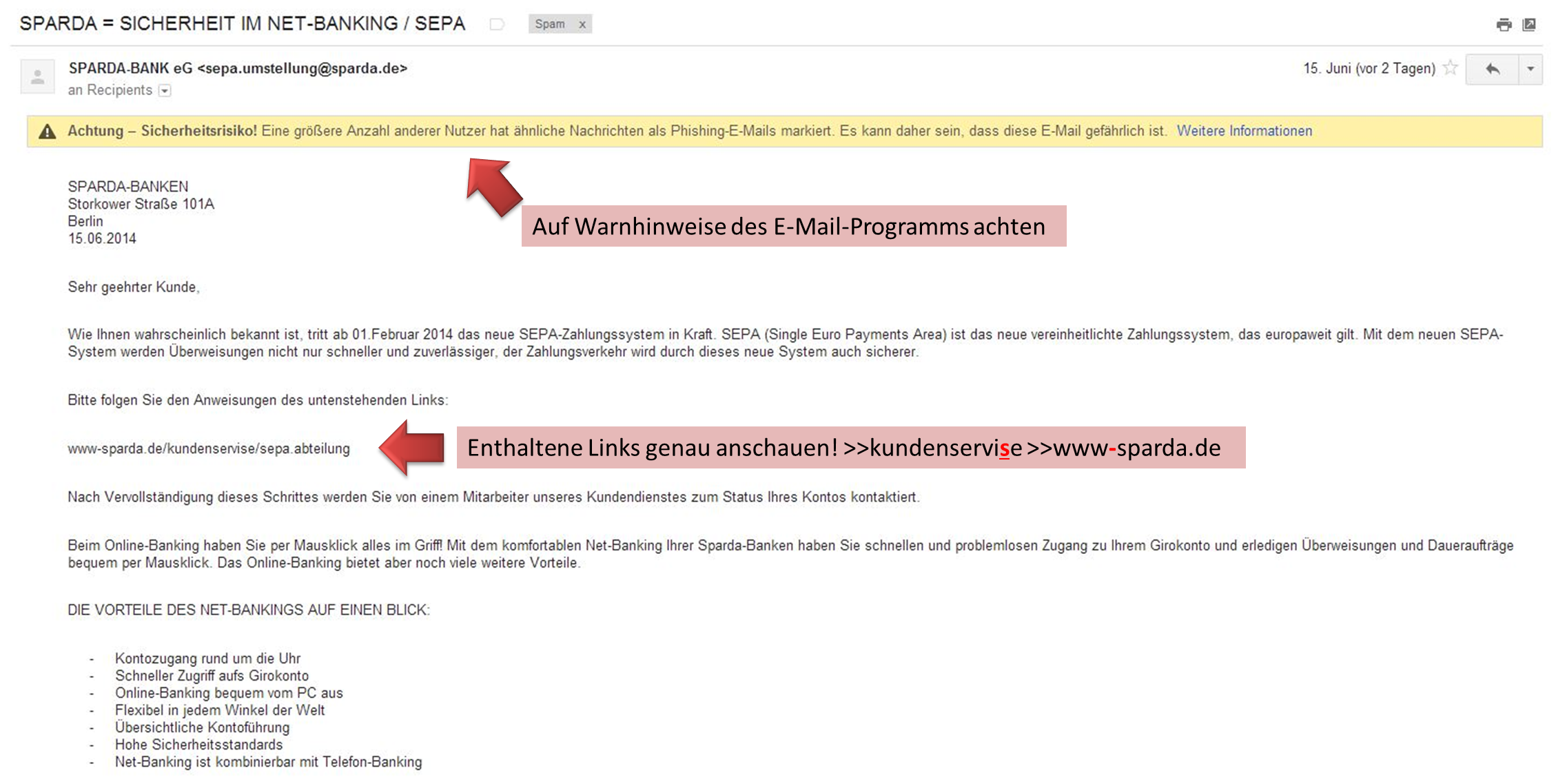 Sparda-Phishing-Mail