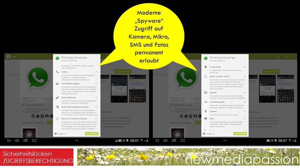 WhatsApp Zugriffsberechtigungen