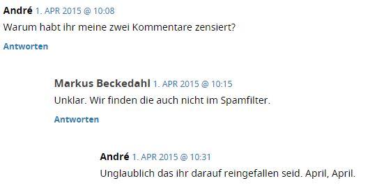 Kommentar-Aprilscherz