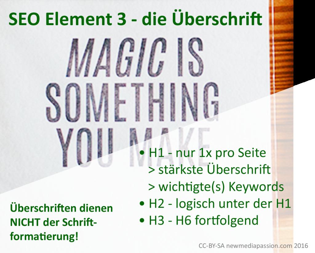 SEO-Element-2-die-Ueberschrift