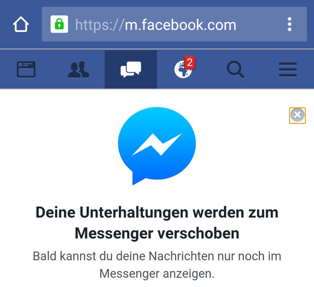 Facebook-Messenger-Zwang