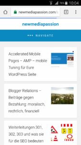 AMP Accelerated Mobile Page newmediapassion