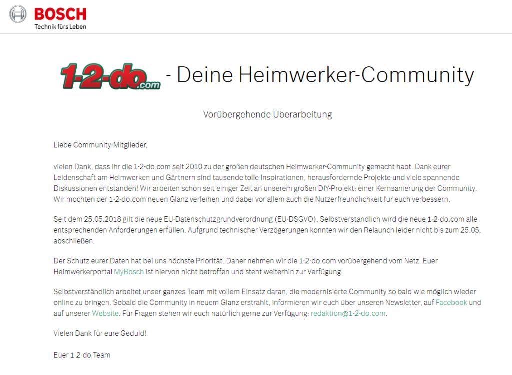 Bosch 1-2-do DSGVO
